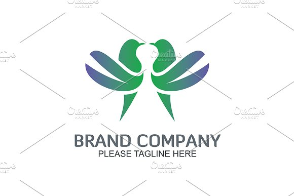 Two Pigeons in Logo Templates