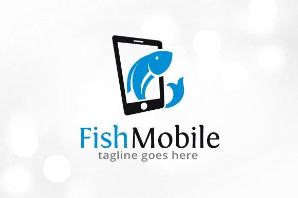 Fish Mobile Logo Template Design