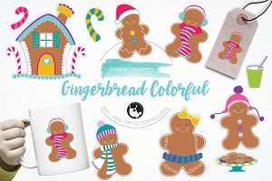 Gingerbread Colorful illustrations