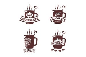 hot chocolate logo template