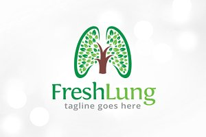 Fresh Lung Logo Template Design