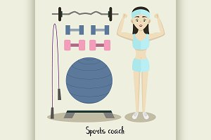 Coach sport with standing position.