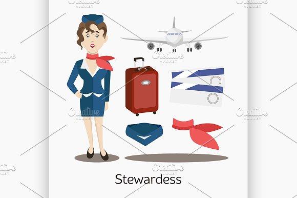 Cute Stewardess Standing