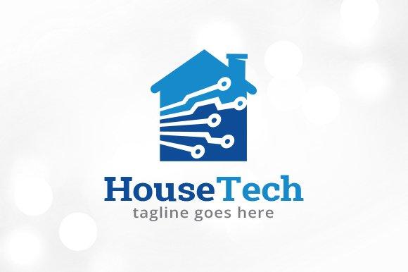 House Tech Logo Template Design