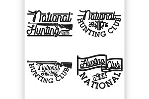 Vintage hunting club emblems
