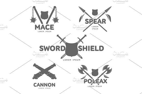 Abstract Vector Smedieval Guns Label