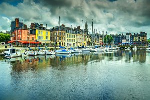 Honfleur harbor, France