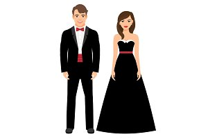 Official evening clothes fashion couple