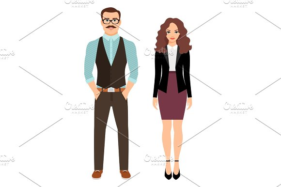 Fashion Couple In Business Clothes