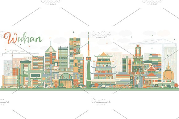 Abstract Wuhan Skyline
