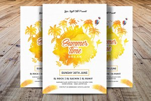 Summer Time Break Party Flyer