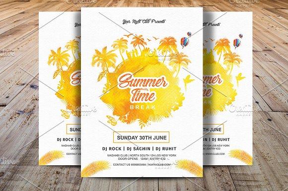 Summer Time Break Party Flyer