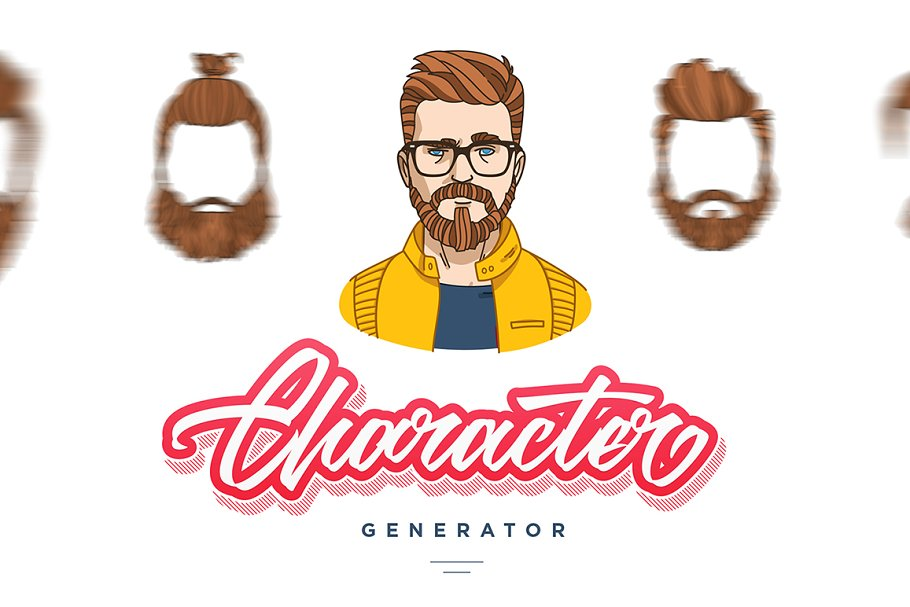 Character Generator ~ Illustrations ~ Creative Market