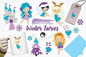 Winter Fairies illustration pack