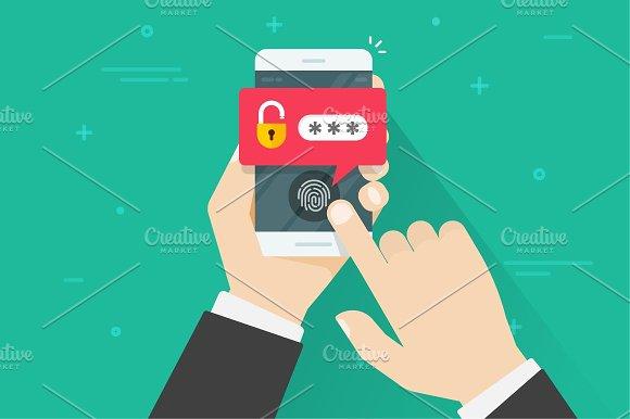 Password Fingerprint On Mobile Phone