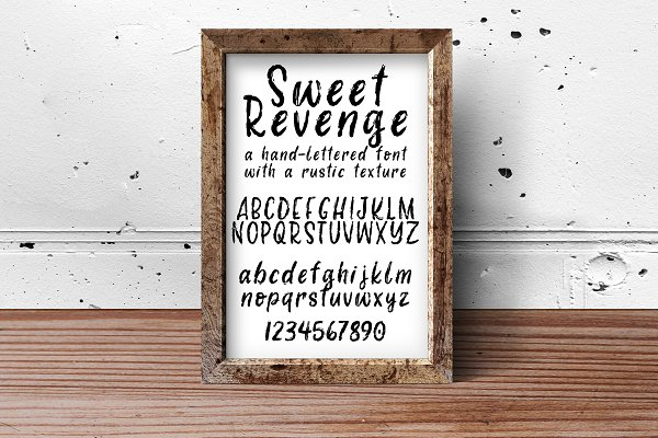 Best Sweet Revenge hand-lettered font Vector