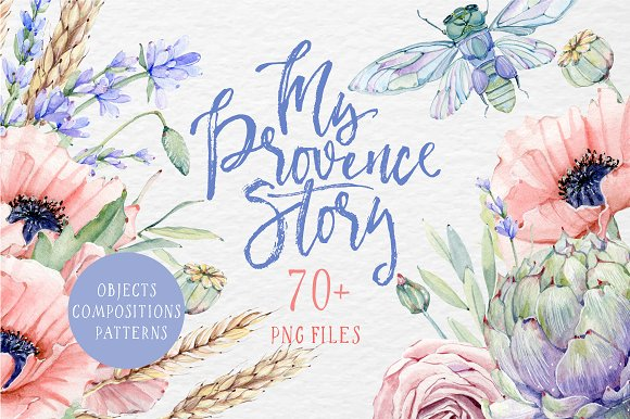 MY PROVENCE STORY Watercolor Set