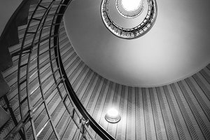 Bulb Stairs BW