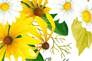 Wild flowers clipart