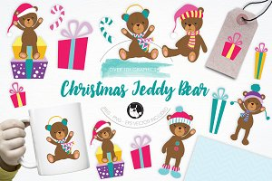 Christmas Teddy Bear illustrations