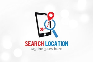 Search Location Logo Template