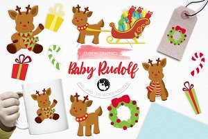 Baby Rudolf illustration pack