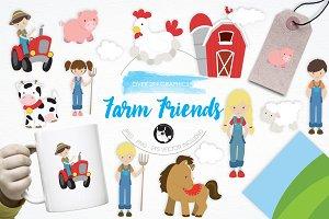 Farm Friends illustration pack