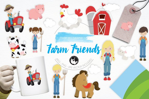 Farm Friends Illustration Pack