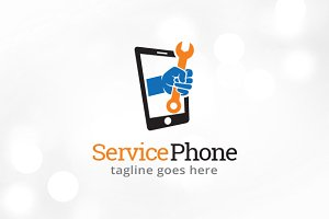 Service Phone Logo Template Design