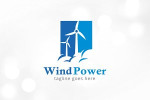 Wind Power Logo Template
