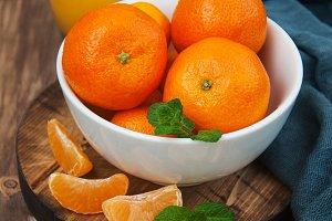 Glass of tangerine  juice