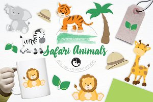 Safari Animals illustration pack