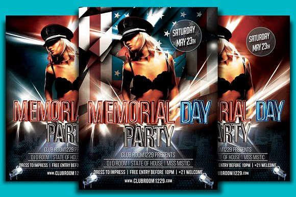 Memorial Day Flyer Template in Flyer Templates