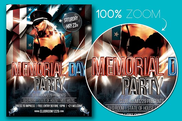 Memorial Day Flyer Template in Flyer Templates - product preview 1