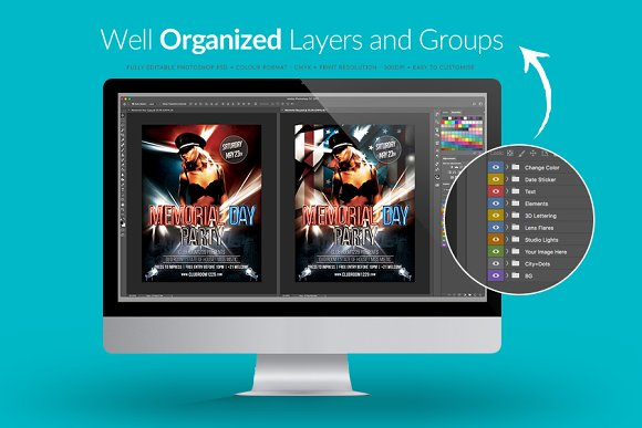 Memorial Day Flyer Template in Flyer Templates - product preview 2