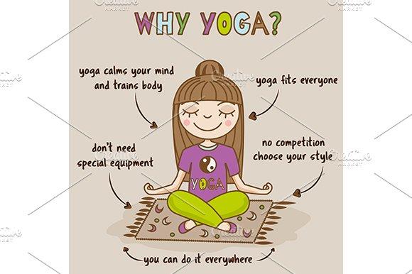 Yoga Benefits Hand Drawn Infographic