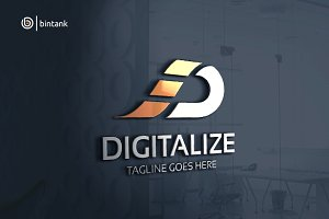 Digitalize - Letter D Logo
