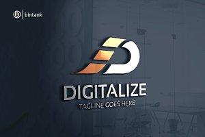 Digitalize - Letter D Logo