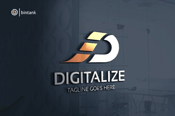 Digitalize Letter D Logo