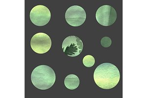 Green circles design elements