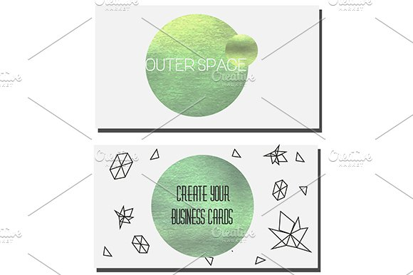 Green circles design elements in Graphics - product preview 1