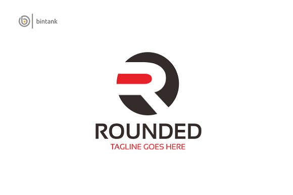 Rounded - Letter R Logo in Logo Templates - product preview 1
