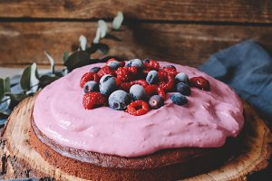 Chocolate Cake with Forest Berries