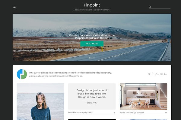 WordPress Portfolio Themes: Theme Junkie - Pinpoint WordPress Theme