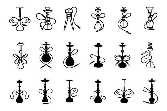 Hookah Icon Set