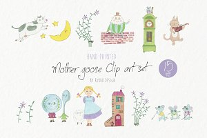 Mother goose nursery rhyme clipart