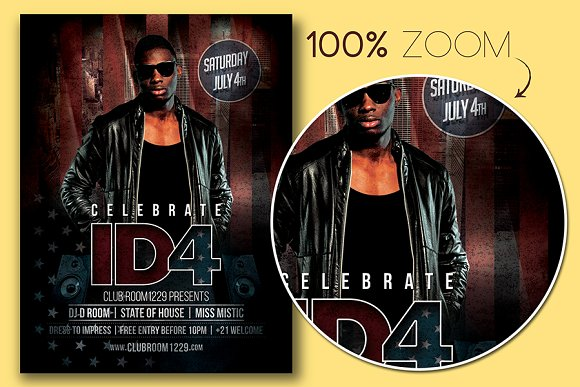 Independence Day Flyer Template in Flyer Templates - product preview 1