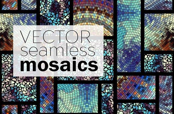 20 Seamless Vector Mosaics