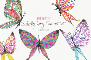 Butterfly fairy watercolor
