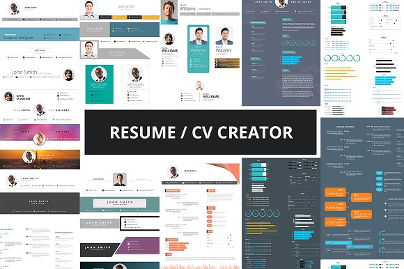 resume cv creator kit resume templates creative market